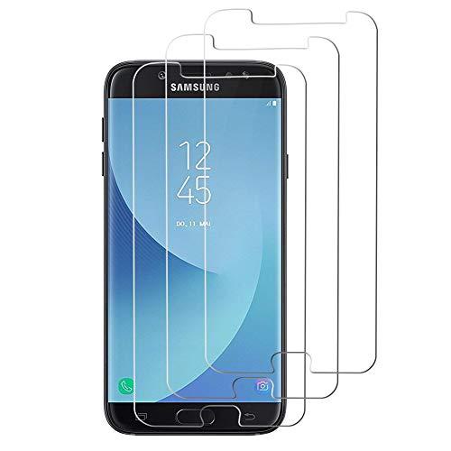 Deofde Verre Trempé pour Samsung Galaxy J7 2017, [3 Pièces] Film Protection écran Protecteur Vitre Ultra Résistant Dureté 9H pour Samsung J7 2017