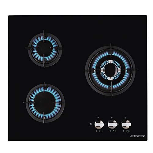 Jocel Placa Encastrable de Gas 3 Hornillos Cristal Templado JP3GV008985