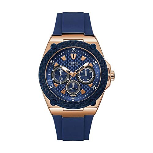 GUESS Legacy Reloj de Hombre Cuarzo 45mm Correa de Silicona Color Azul W1049G2