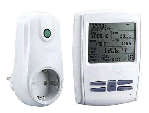 Drahtloses Energiekostenmessgerät-Set mit LCD-Anzeige und 2 Übermittler bzw. Messgeräte FHT-9998