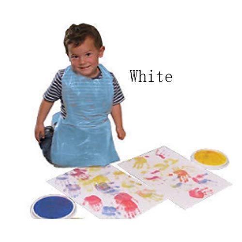 Zoomlie Einweg-Schürze für Kinder Malerei Klasse Essen DIY Klasse Schutzschürze Kinder Einweg-verpackt Kunststoff Schürzen - 100 Stück - Einweg Kind-kittel