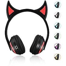 Bluetooth hoofdtelefoon, draadloos, stereo, kattenoren, lichtgevende kattenoren, gaming headset met 7 kleuren LED Oor Deer Light