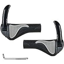 Bicicleta Manillar con Bar Ends Cuerno ergonómico goma negro (gris) Generic para manillares de 22mm