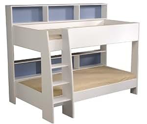 parisot 2344lis1 tom lit superpos 90x190 90x200 panneaux de particules blanc 209 x 132 x 164 5. Black Bedroom Furniture Sets. Home Design Ideas