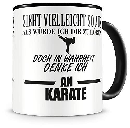 Samunshi® Ich denke an Karate Tasse Kaffeetasse Teetasse Kaffeepott Kaffeebecher Becher