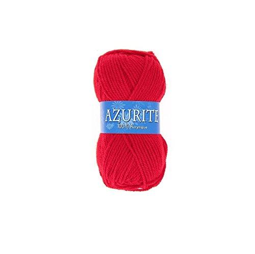 Pelote de laine Azurite 100% Acrylique Tricot Crochet Tricoter - Rouge - 156