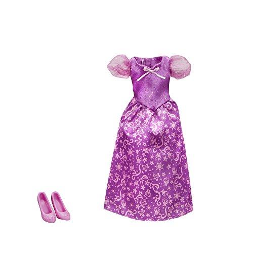 Disney Princess Hasbro Rapunzel - Kleidung, Puppenkleidung - Kleid für Puppe, glitzernd und Schuhe (Disney Kleid Rapunzel)