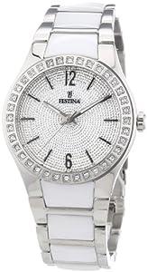 Reloj Festina F16657/1 de cuarzo para mujer con correa de cerámica, color blanco de Festina