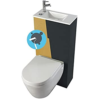 pack wc sur lev sortie horizontale avec lave mains. Black Bedroom Furniture Sets. Home Design Ideas