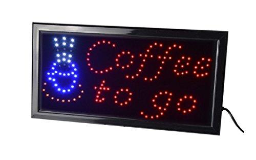 LED Leuchtreklame Werbung, LED Schild, Leuchtschild Noyan® (Coffee to go)