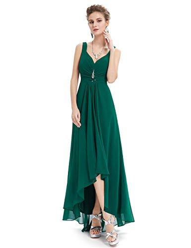 Ever Pretty Robe de Soir¨¦e Double V-col Diamants synth¨¦tiques devant la poitrine 09983 Vert