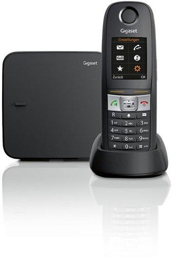 Gigaset E630 Telefon - Schnurlostelefon / Mobilteil - TFT-Farbdisplay - extra große Ziffern - Grosse Tasten Telefon / Dect-Telefon, schwarz