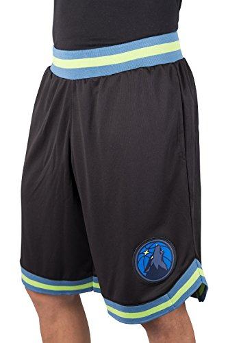 Team-logo-fälle (NBA Herren Mesh Basketball Shorts Woven Active Basic, Team Logo schwarz, Herren, GSM3547F, schwarz, X-Large)
