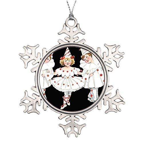 WSMBDXHJ Kinder Party Kostüm Clown Pierrot Junge Mädchen Klassische Schneeflocke Weihnachten Ornamente Zinn für den - Jungen Kostüm Schneeflocke