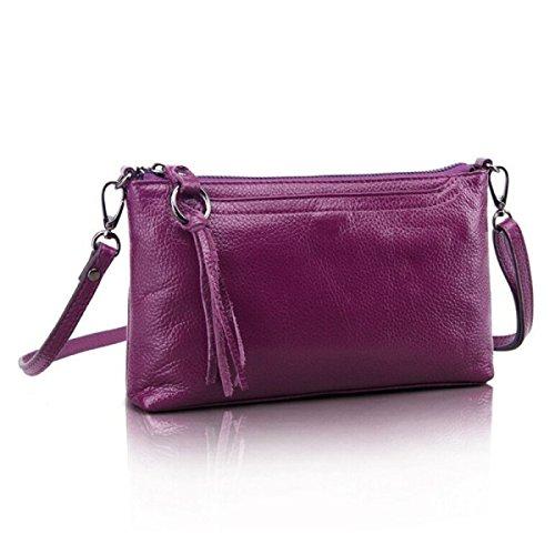 3e0511818700e WU Zhi Damen Ledertasche Umhängetasche Purple -tierarztpraxis-tresser.de