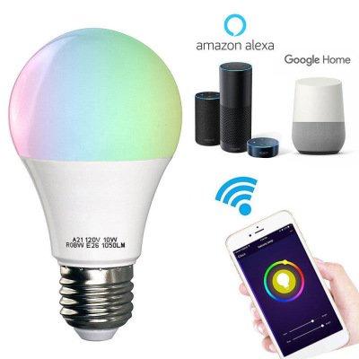 Xueyanwei Alexa Sprachsteuerung LED-Lampen Wireless Wifi Smart-Home-Lampe Lampe RGB Energiesparende Dimmer-Lampen