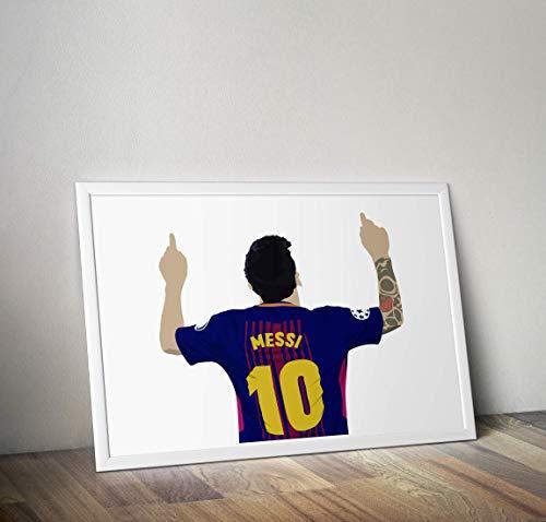 Lionel Messi inspirierte Poster - Zitat - Alternative Sport/Fußball Prints in verschiedenen Größen (Rahmen nicht im Lieferumfang enthalten)
