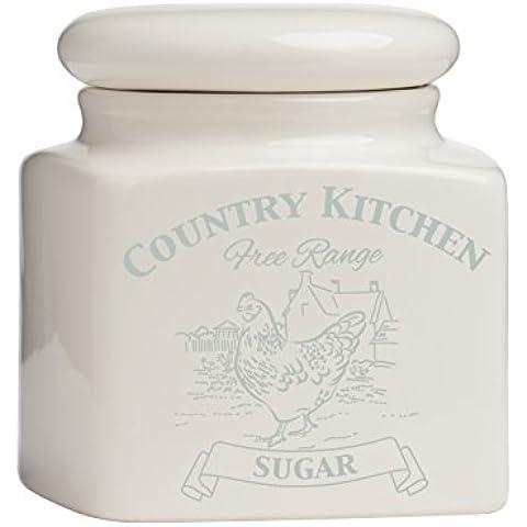Premier Housewares Country Kitchen Zucchero scatola metallica,