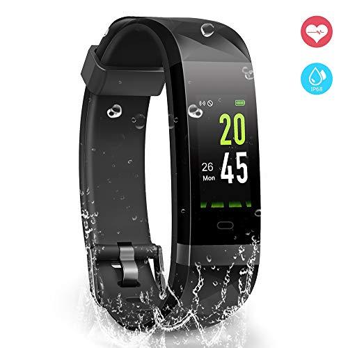 YoYoFit Orologio Fitness Activity Tracker, IP68 Impermeabile GPS Contapassi da Polso Pedometro Cardiofrequenzimetro Pedometro Compatibile con iOS Android a Calorie Uomo Donna Bambini Regalo