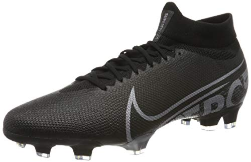 Nike Herren Superfly 7 Pro FG Fußballschuhe, Schwarz (Black/Metallic Cool Grey-Cool Grey 001), 43 EU