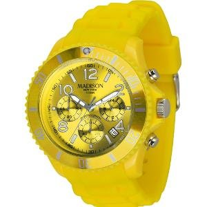 Madison New York Candy Time® Chrono reloj para hombre amarillo Onesize de MADISON NEW YORK