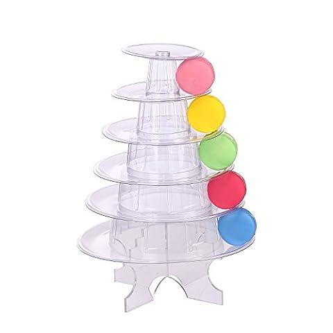 6étages en acrylique Transparent Rond support à gâteaux à dessert Tour support Mariage Anniversaire