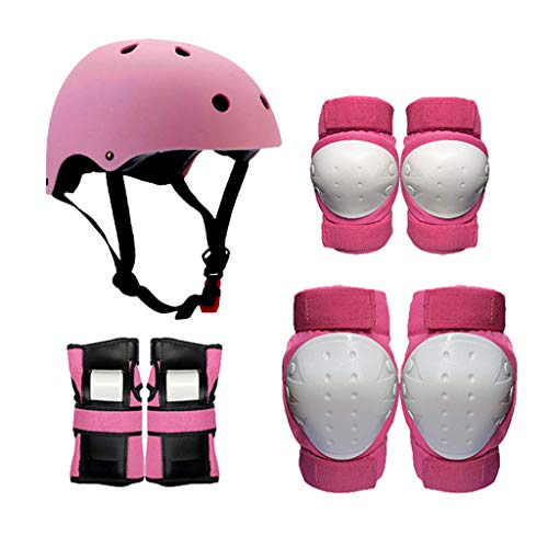 Lsrryd Kinder Ski Helm Kinder Schutzausrüstung, Knieschützer Ellenbogenschützer Handgelenkschutz...