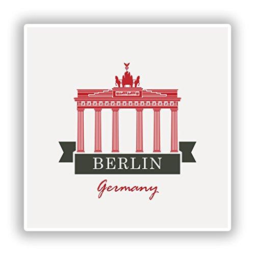 2x Berlin Germany Vinyl Aufkleber Reise Gepäck # 10217