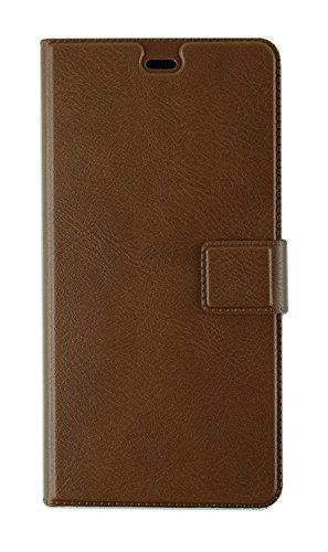 Macc For : Indian Version Xiaomi Redmi Note 4 : Macc Business Premium Faux Leather Flip Case Flip Cover For Indian Version Xiaomi Redmi Note 4 - With Stand , Magnetic Lock, Simple , Smart , Elegant , Card & Currency Wallet,Brown