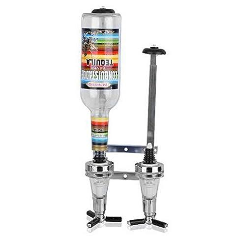 QSSM® Aluminum Alloy Wine Racks Wine Alcohol Liquor Drinks Dispenser Bar Butler Shot Cocktail Wine Pourer Party Gadget Barware Set for 2 Bottles