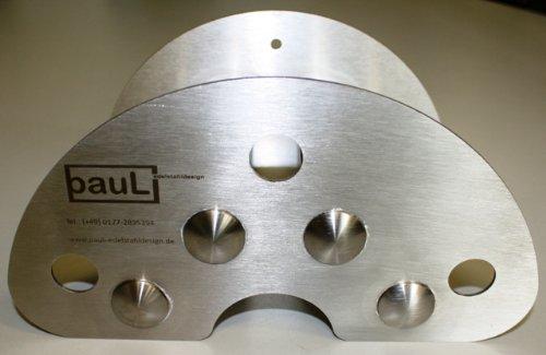 Support pour flexible (Petit Modèle) en acier inoxydable (2 mm) pour montage mural avec embouts de la charge les cavités tubes pour la fermer