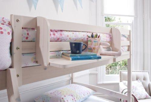 Cabin Bed Shelf Multi Purpose shelf ideal for Midsleepers WHITEWASH