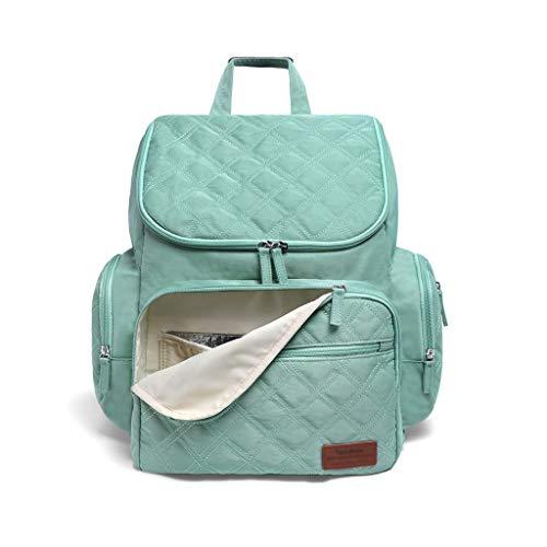 FH Bolsa De Pañales Impermeable, Versátil, Elegante Mochila De Viaje, Bolsa De Pañales De Maternidad Para El Cuidado Del Bebé, Gran Capacidad Y Durabilidad (color : Green)