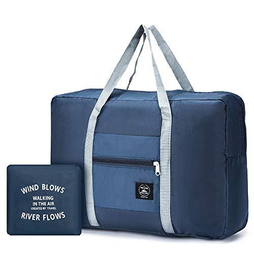 SPAHER Ultra léger Sac de Voyage Rangement Pliable Grande Taille Cabine Avion Pliable Imperméable Organisateur de Valise Packaway Sac à Dos Sac à Main pour Voyage Bagage Sports 32L