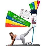 ActiveVikings Fitnessbänder Set 4-Stärken by Ideal für Muskelaufbau Physiotherapie Pilates Yoga Gymnastik und Crossfit   Fitnessband Gymnastikband Widerstandsbänder