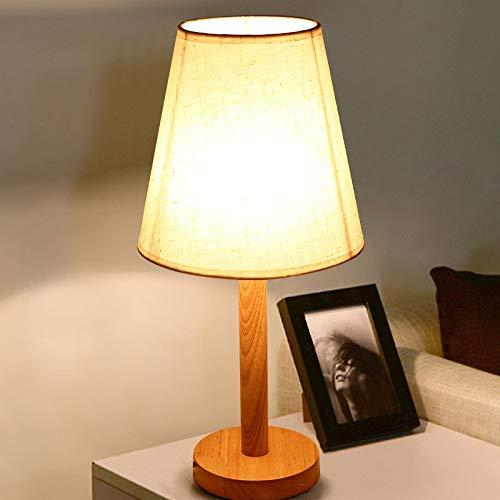 Lámpara de mesa pequeña de madera maciza Dormitorio de la universidad nórdica lámpara de mesita de noche luz de libro LED de madera original luz de noche ## 1 botón + cable de tungsteno