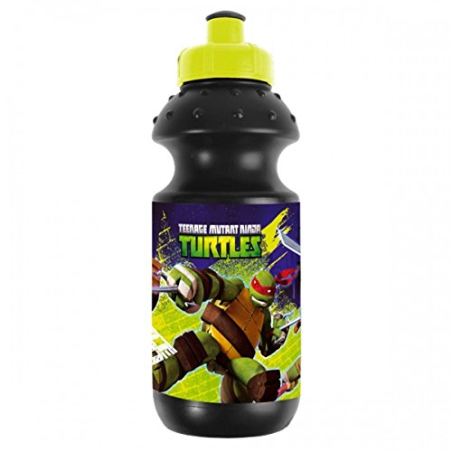 Ninja Turtles - Trinkflasche 500ml schwarz ()