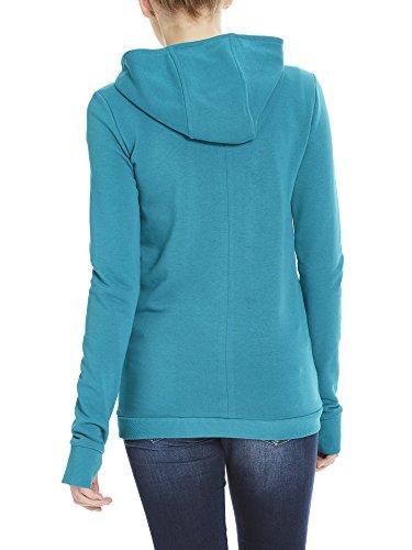 Bench Corp Print Hoody, Sweat-Shirt à Capuche Femme Turquoise (Fanfare Gr11330)