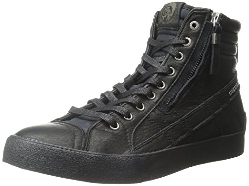 Diesel Stivaletto Sneaker Uomo Zip D-String Plus Leather Black-41