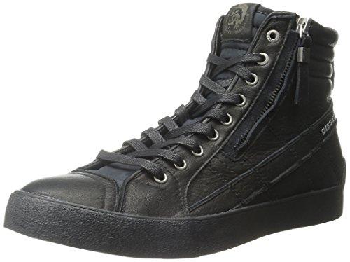 Diesel Herren D-Velows D-String Plus Mid Hohe Sneaker, Schwarz (Black), 46 EU (Schuhe Schwarz Diesel)