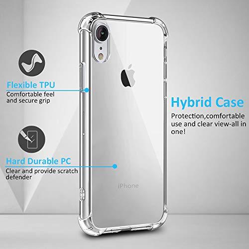 Anti-Rasgu/ños Sin Burbujas 2-Unidades Alta Definicion Babacom Protector Pantalla para iPhone XR Cristal Vidrio Templado para iPhone XR con Marco de Alineaci/ón para iPhone XR 6.1-Inch 2018