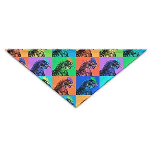 (Hectwya Cute Chicken Pop Art Lattice Printing Mehrfarbige Haustierbandanas für Ihren Hund oder Ihre Katze klein bis mittelgroß)