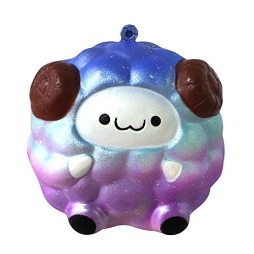 g Jumbo Stress Relief Spielzeug für Kinder Erwachsene mingfa Weich Starry Sky Schaf Cartoon Squeeze Dekompression Spielzeug (Lustige Halloween-lebensmittel Cartoons)