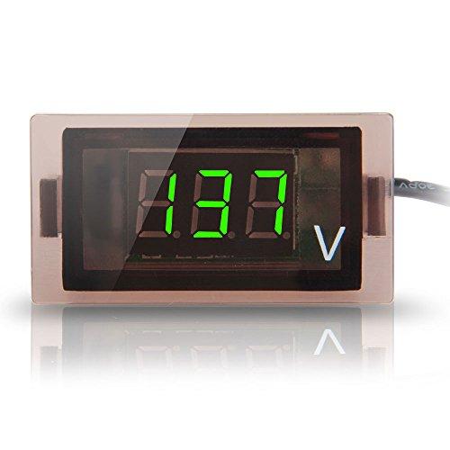 CARCHET® Digital Display Voltmeter Grün LED Voltanzeige Panelmeter Spannungsanzeige