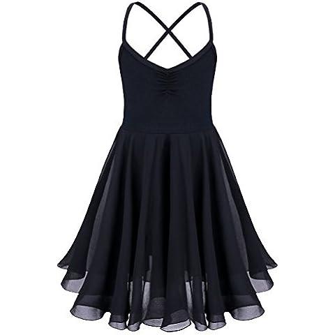 YIZYIF XS-XXL Las Niñas Traje De Ballet Gasa Bailarín Vestido De Malla Vestido De Danza Para 2-10