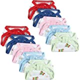 Little Boo New Born Baby's Cotton Cloth Diapers/Langot/Nappy U Shaped Washable and Reusable Nappies (Multicolour,0-6 Months)