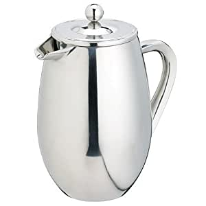 KitchenCraft Le'Xpress Double-Wall Insulated Stainless Steel Cafetière, 1 Litre (8 Cups)
