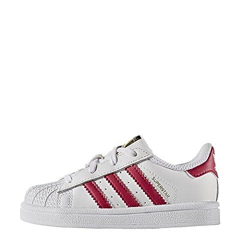 adidas Schuhe – Superstar I weiß/rosa/weiß Größe: 20