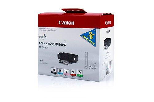 Original Canon 1033B011 / PGI-9, für Pixma Pro 9500 Mark II 5X Premium Drucker-Patrone, Farblos, 5 x 14 ml (Tinte Pro 9500 Pixma Canon)
