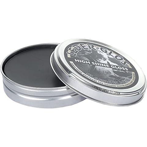 Leder-texto negro Altberg alto brillo de cuero polaco para botas, 80 G Tin Negro negro